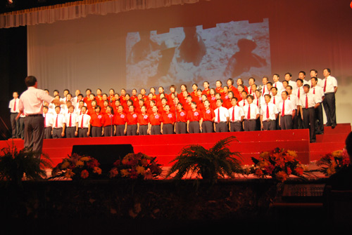 North China Petroleum Steel Pipe Co., Ltd. Choir participated in the founding of the 60th anniversary singing competition